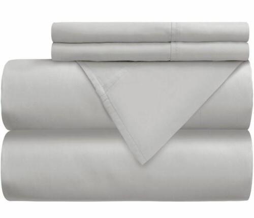 Mellanni 100% Cotton Sheet Pockets 4-Piece