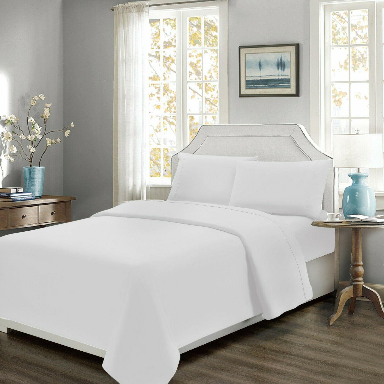 percale cotton bed sheet set 300 threadcount