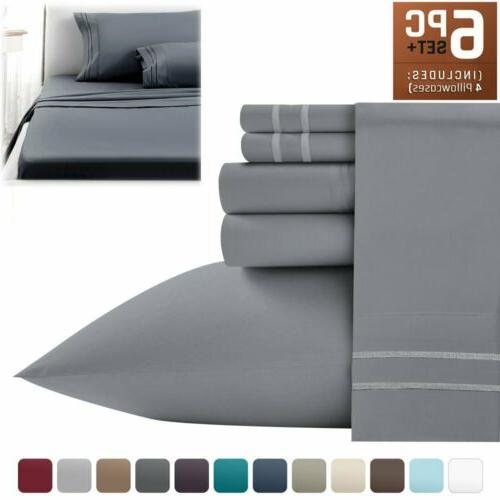 Persian Collection 1900 Count Sheet set Fitted Flat 16 Deep