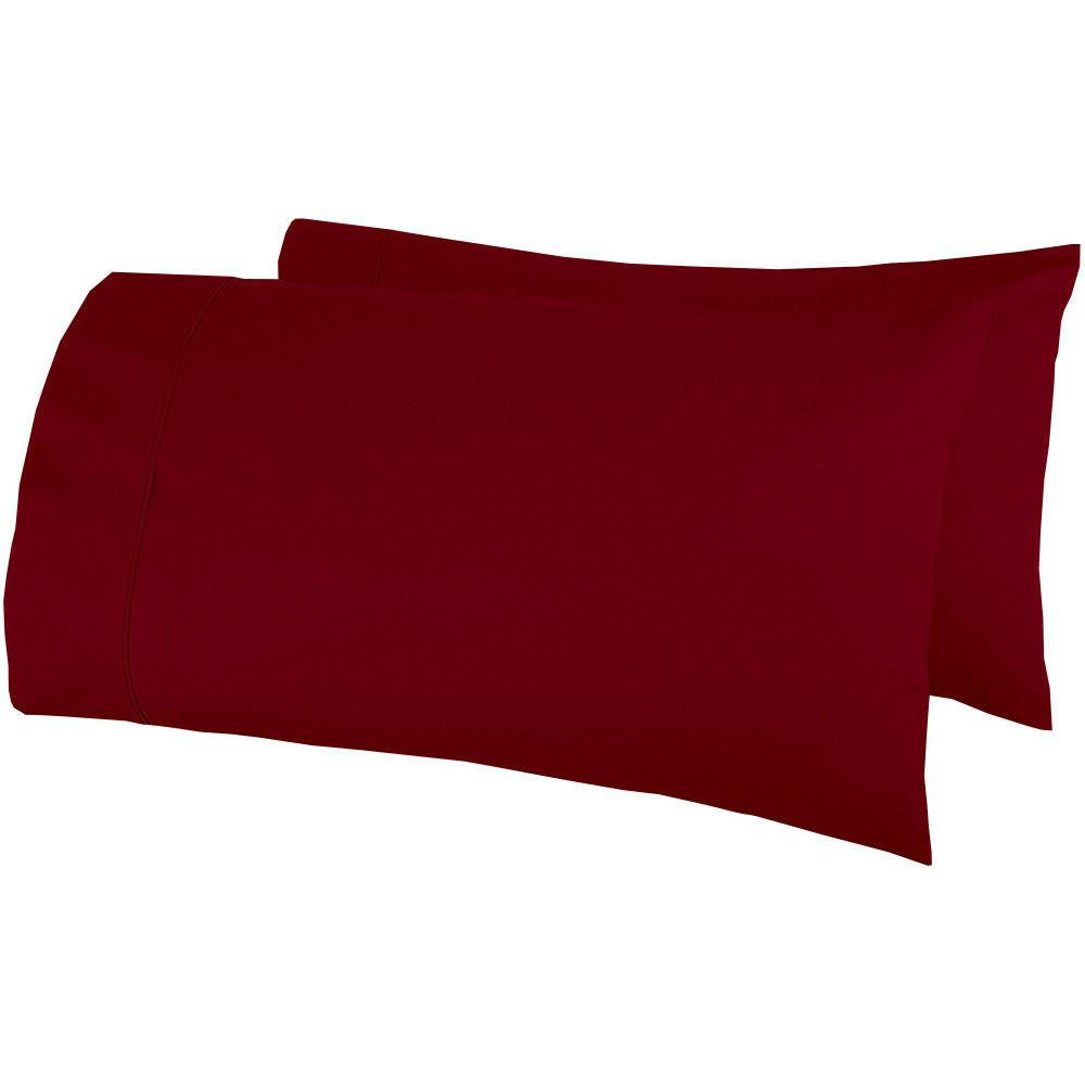 pillow cover home sweet home burgundy solid
