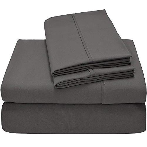 Linenwala Head Sheet Size - Split-King Sheets 400-Thread-Count - Split Head - 34 inches Down The top