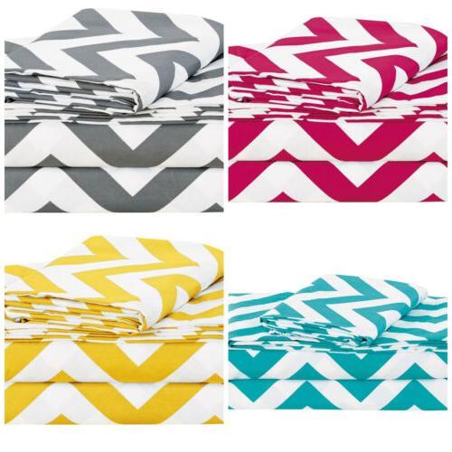 Chezmoi Collection Printed Chevron Zig Zag Soft Microfiber S