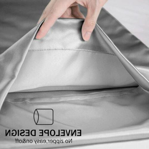Queen King Size Satin Silk Cover Ultra Of
