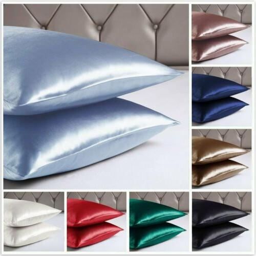queen king size satin silk pillowcase pillow