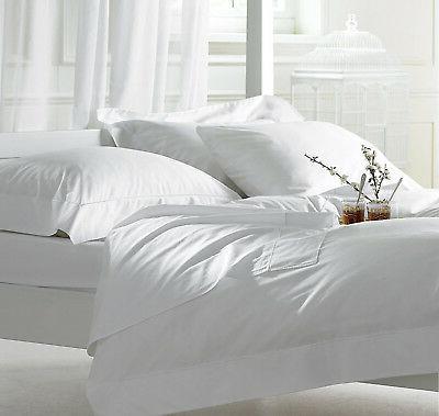 ! Sale ! New White Solid - Sheet Set - Sizes & Deep 100% Egy