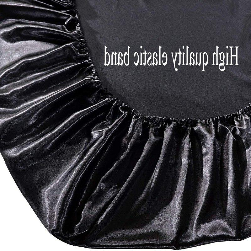 Satin Bed whit Elastic <font><b>King</b></font> Fitted Silky