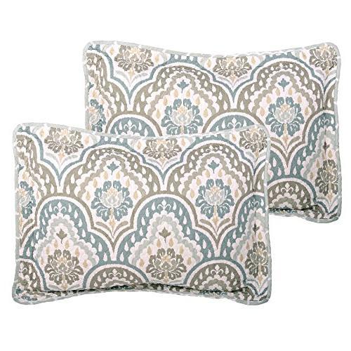 Serenta Printed Bedspread cover Summer Quilt Blanket with Cotton Polyester Filled Set,