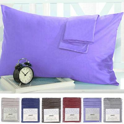 set of 2 pillowcases 1800 count pillow