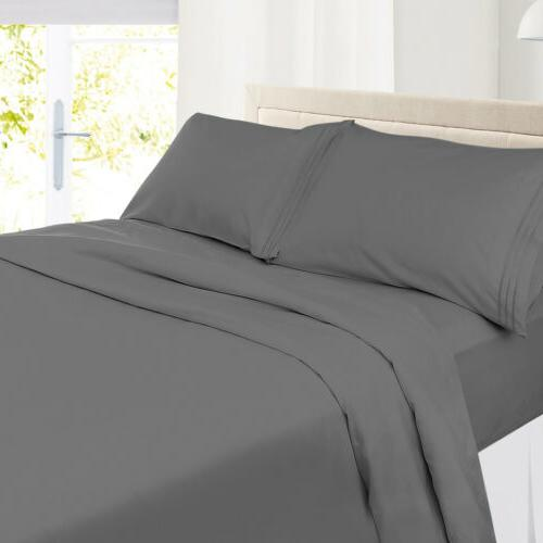 King Soft Microfiber Sheets Deep Pocket Set
