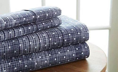 sheet set polkadot patterned
