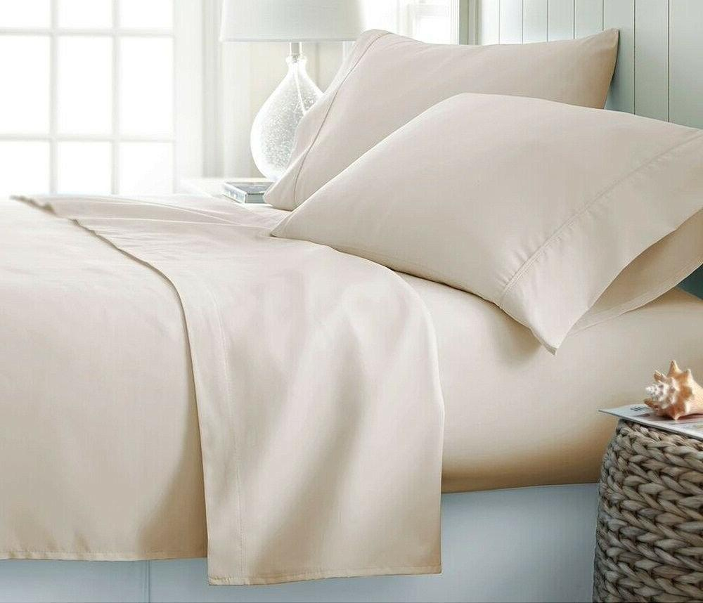 Sheet Set Size Ivory Solid Thread Count 100% Cotton