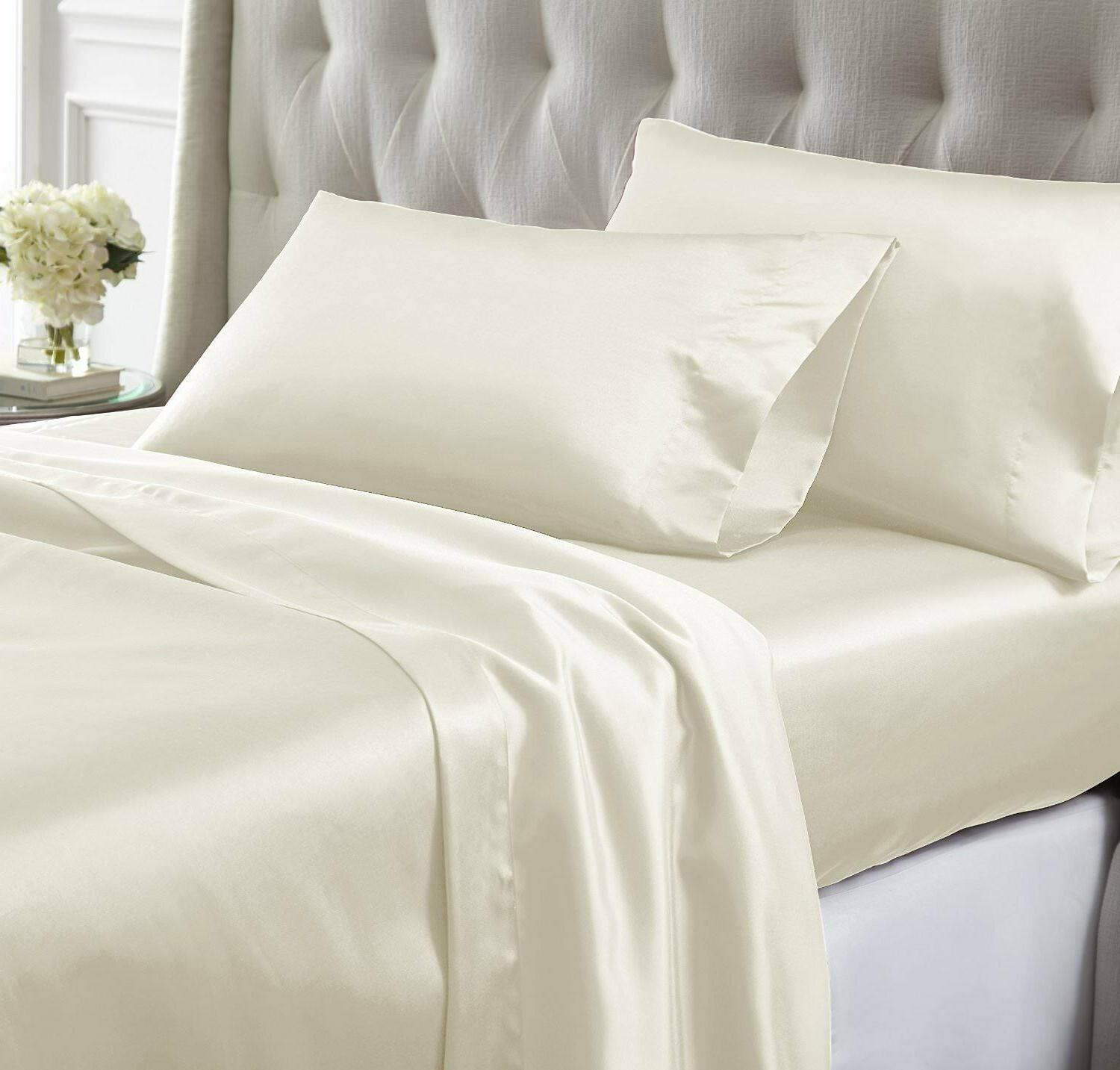 Sheet King Size Ivory Count 100%