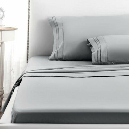 Soft 4 Piece Deep Bedding Sets Queen Full