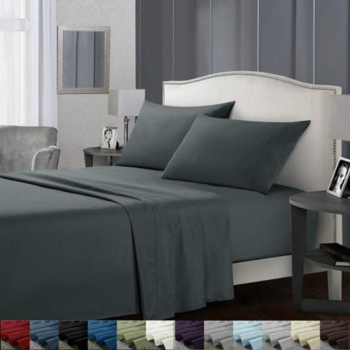 soft bed sheets set 4 piece deep