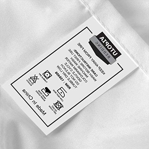 Microfiber Stain Bed Sheet Set White