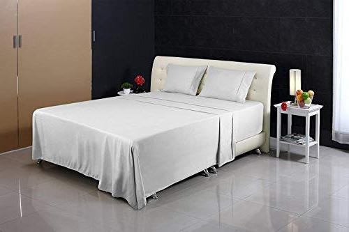 Utopia Bedding Soft Brushed Microfiber Fade and Stain Resistant Bed Sheet White