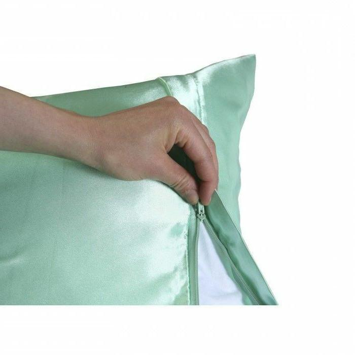 Luxury Satin Pillowcase with Zipper, Standard Size