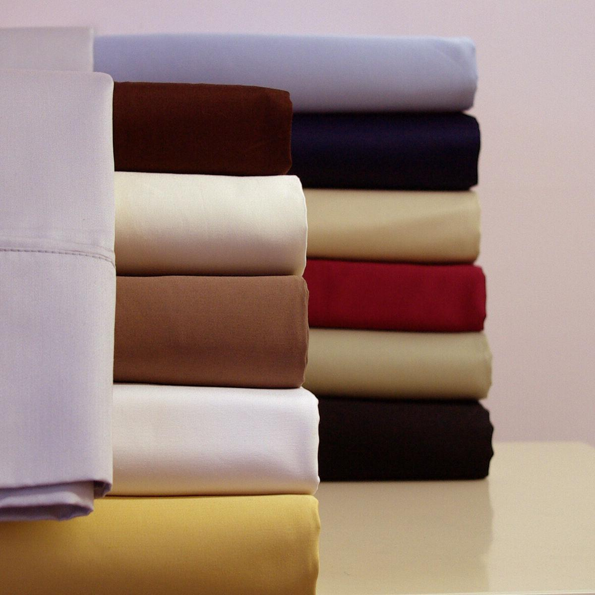 King size 300 Thread Count Solid Sheet Set 100% Combed Cotto