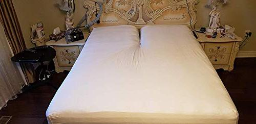 Crafts Linen Split Bed Sheet Size - Adjustable Dark 400-Thread-Count - Split Head Sheets inches Down from top