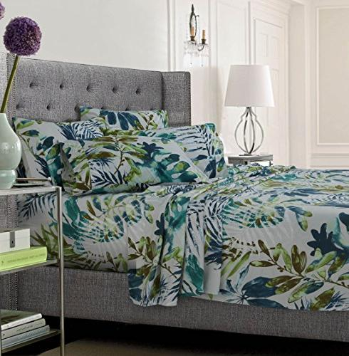 Rainforest Printed Flannel 4 Piece Sheet Set by Tribeca Living