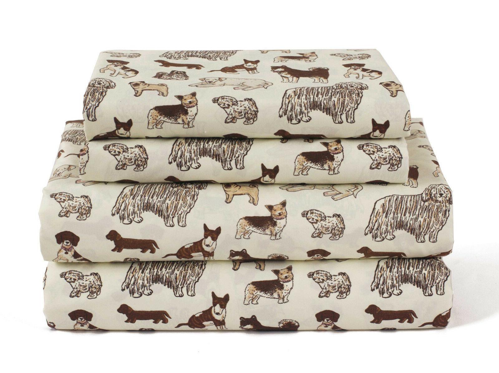 twin full queen or king dog sheet