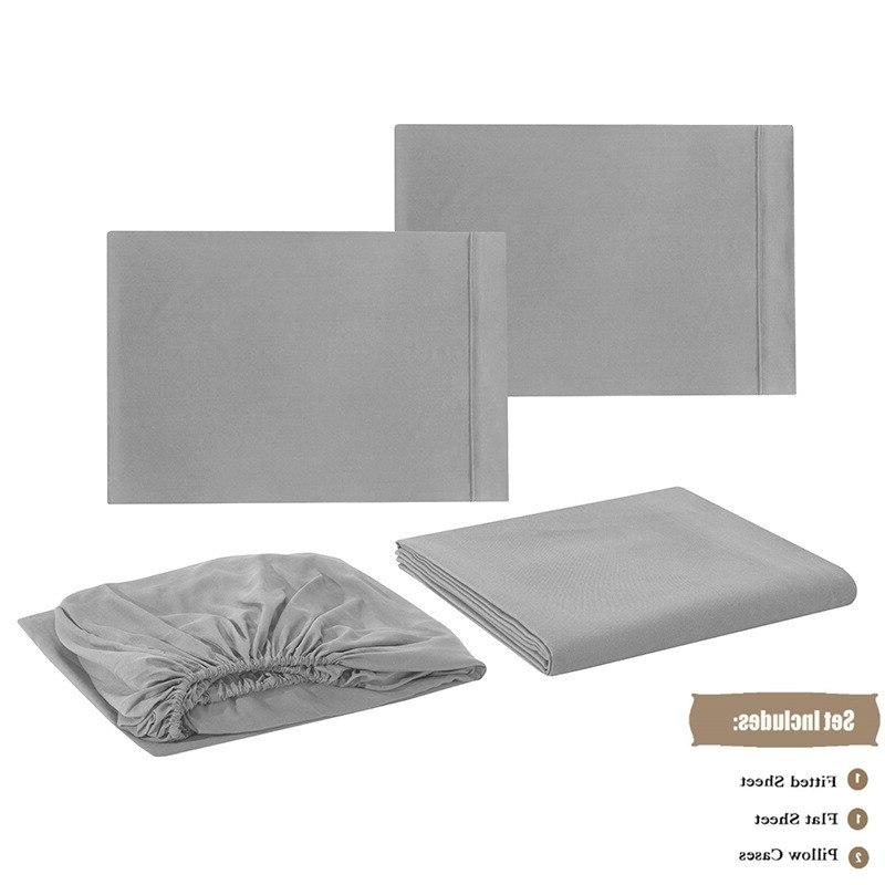 UNIKEA Bed <font><b>Sheet</b></font> Brushed or <font><b>Sheet</b></font> Pillowcase Twin <font><b>King</b></font> Kin