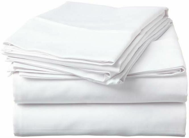 US Thread Count Cotton White Solid