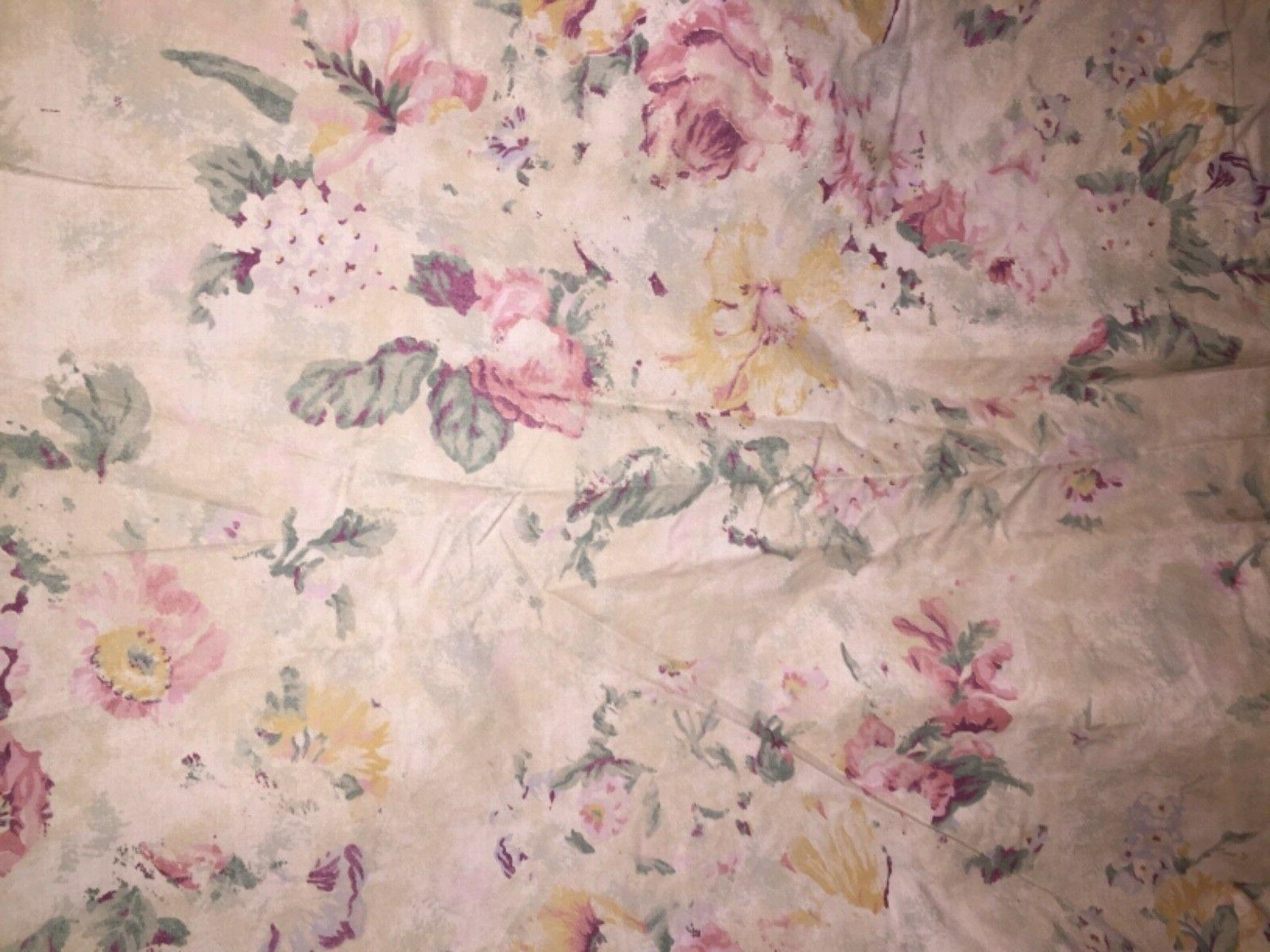 Vintage Lauren Francesca Floral Sheet New Package