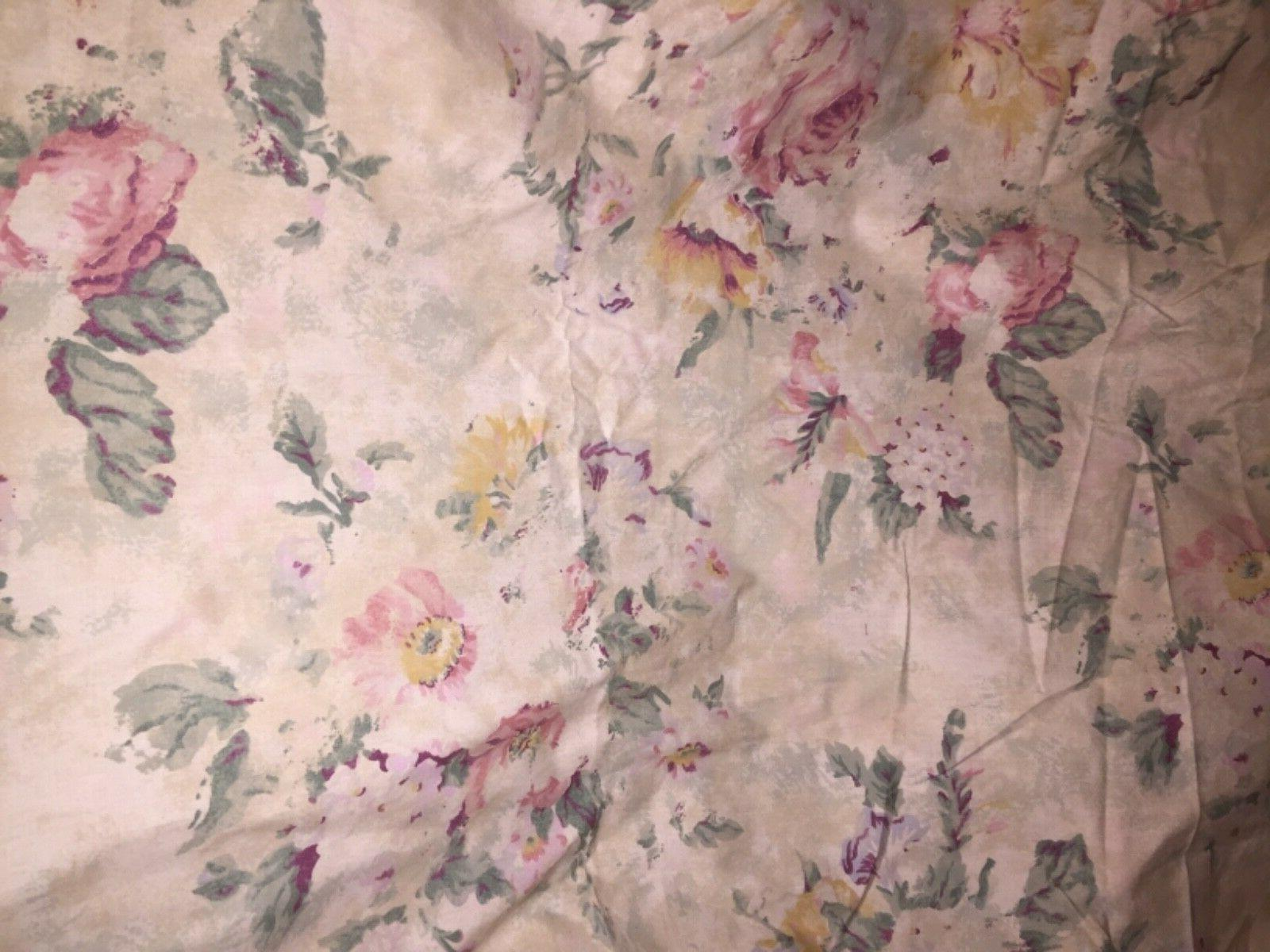 vintage francesca floral king fltted sheet new