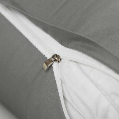 Zippered Pillow Cover Queen King