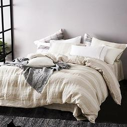 Merryfeel 100% Linen Duvet Cover Set - King - Natural