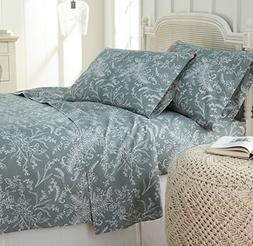 Southshore Fine Linens - Winter Brush Print 4 Piece Sheet Se