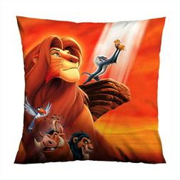 "LION KING MOVIE Decorative Throw Zippered Pillow Case 16"" 18"