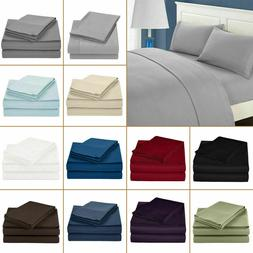 Luxurious 4 Pieces Sheet Set King Size 800 Thread Count Pure
