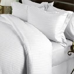 Luxurious SEVEN  Piece Set, WHITE Damask Stripe, EASTERN KIN
