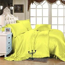 Selection Bedding Luxurious Ultra Soft Silky Satin 7-Piece B