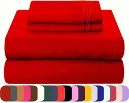Mezzati Luxury Bed Sheet Set - Soft and Comfortable 1800 Pre