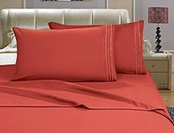 Sanderscollection Luxury Bed Sheets Elegance Linen 1500 Thre