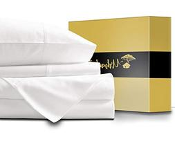 URBANHUT Egyptian Cotton Sheets Set - 1000 Thread Count 100%