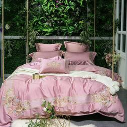 Luxury Palace King Bedding Sets Cotton Embroidery Duvet Cove
