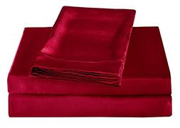 HONEYMOON HOME FASHIONS Ultra Luxury and Soft Satin King Bed