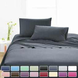 Luxury Sheet Set 1800 Count 4 Piece Bamboo Soft Feel Extra D