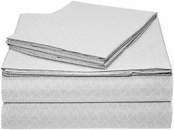 microfiber sheet set cal king grey crosshatch