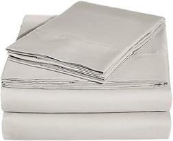 microfiber sheet set cal king light grey