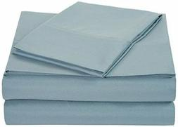 AmazonBasics Microfiber Sheet Set - Twin Extra-Long, Spa Blu