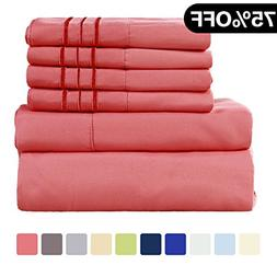 WARM HARBOR Microfiber Sheet Set Super Soft 1800 Thread Coun