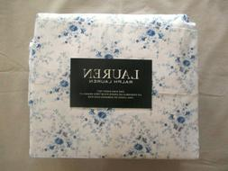 NEW 4pc Ralph Lauren King Sheet Set Cottage Chic Floral Blue