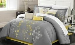 NEW Chic Home Blissimo Embroidered Comforter Set 8 Piece - G