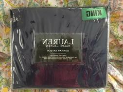 New Ralph Lauren KING 4 Pc Sheet Set Dunham Sateen Cadet Blu