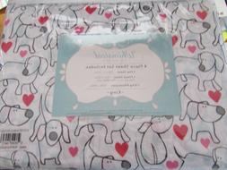 NEW KING SIZE SHEETS DOG PUPPY DOG PRINT KING SIZE DOGS WITH